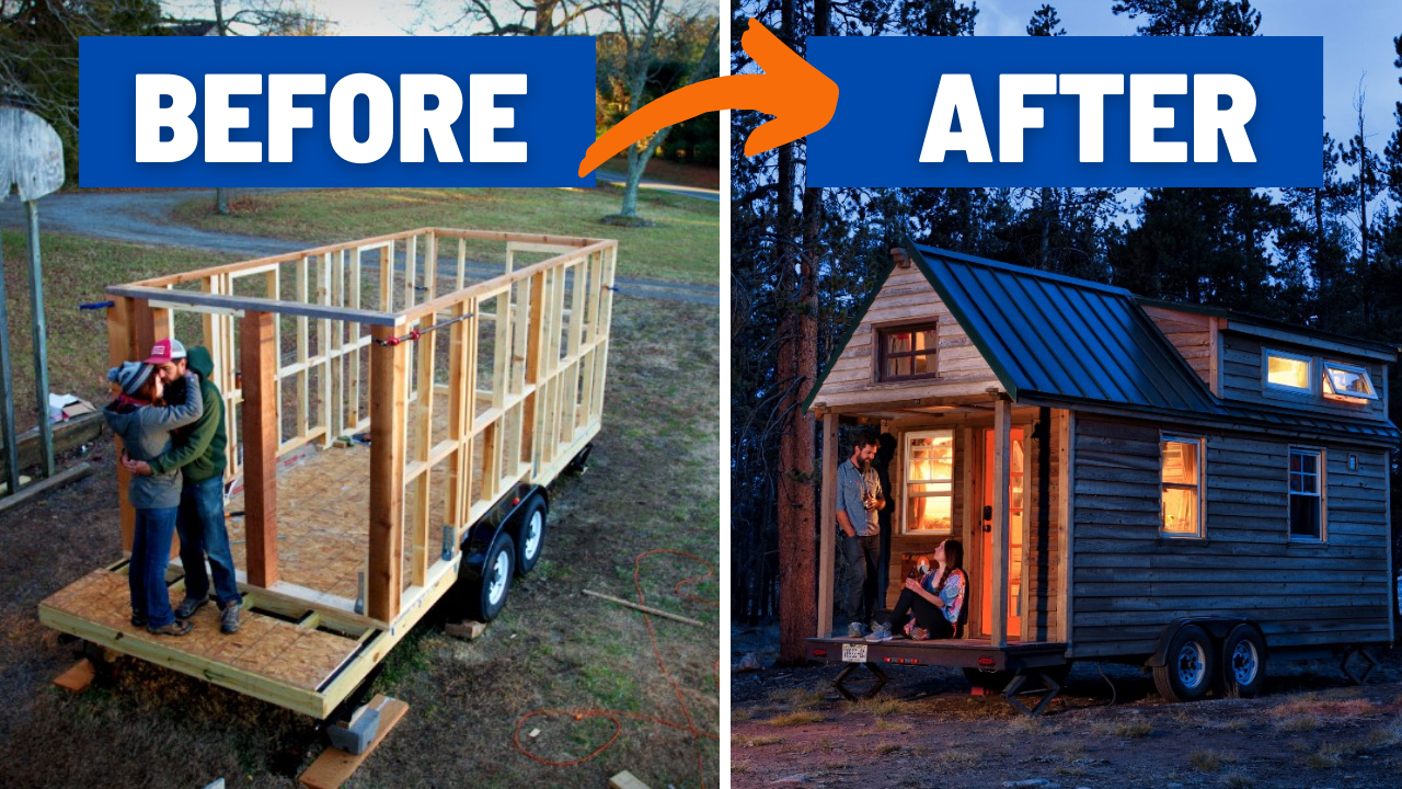 our self built tiny house_before_after